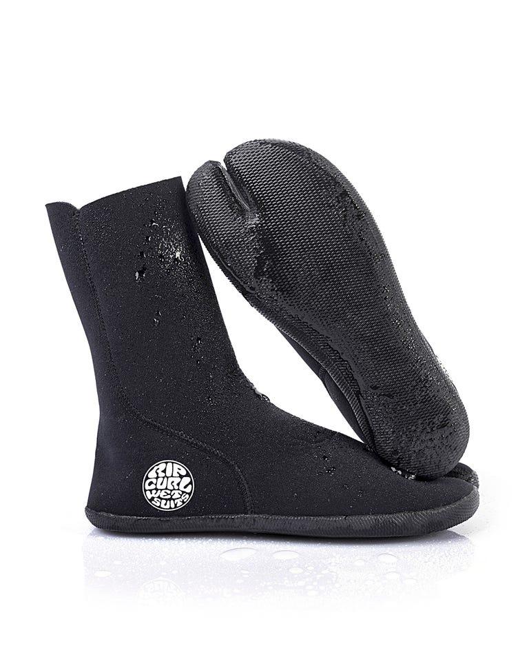 Bullet Boot 3mm Split Toe Wetsuit Booties in Black
