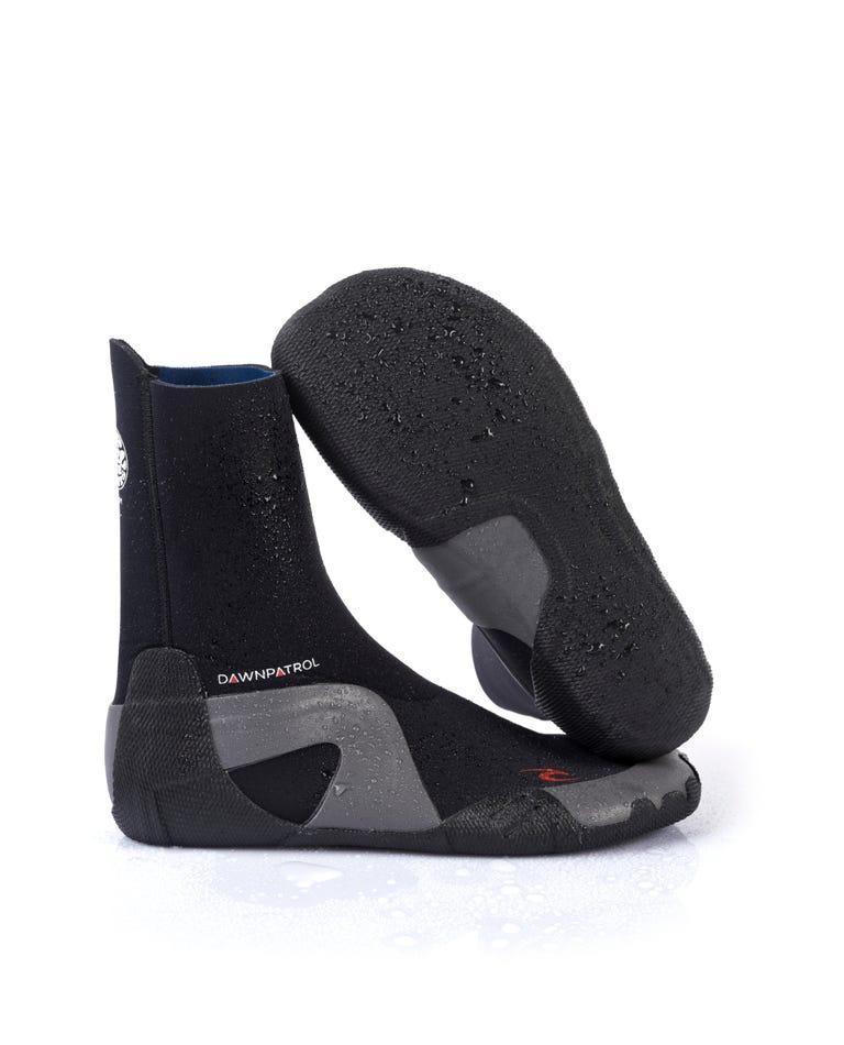 Dawn Patrol 5mm Round Toe Booties in Black