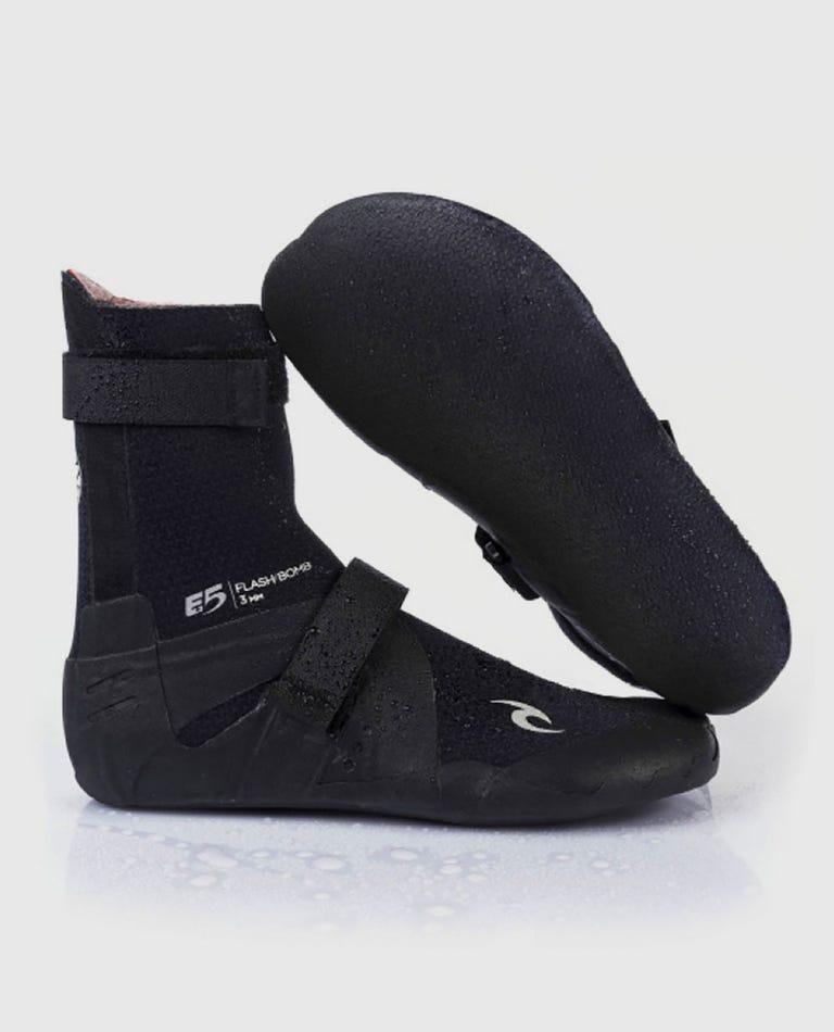 Flashbomb 3mm Hidden Split Toe Booties in Black