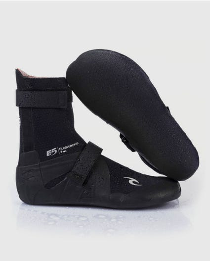 Flashbomb 3mm Hidden Split Toe Booties in Black