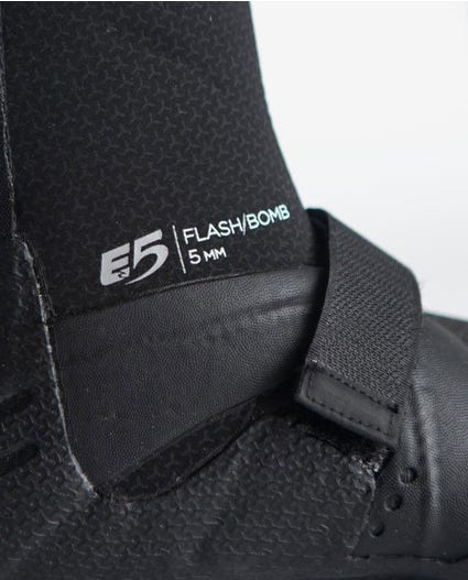 Flashbomb 5mm Hidden Split Toe Booties in Black