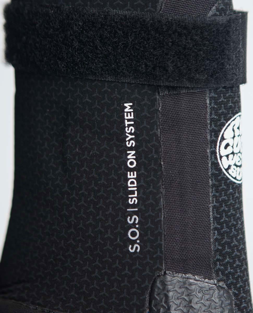 RIP CURL Flashbomb 5mm Hidden Split Toe Wetsuit Boots WBOYIF Black