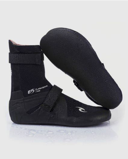 Flashbomb 5mm Hidden Split Toe Booties in Black