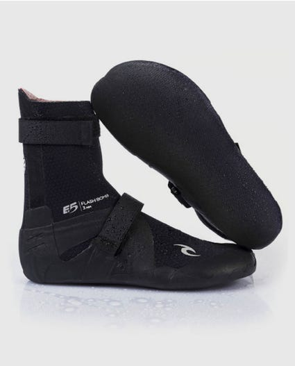 Flashbomb 7mm Round Toe Booties in Black