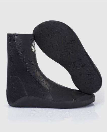 Rubber Soul Plus 5mm Split Toe Booties in Black