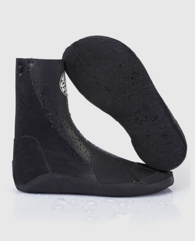 Rubber Soul Plus 3mm Split Toe Booties in Black