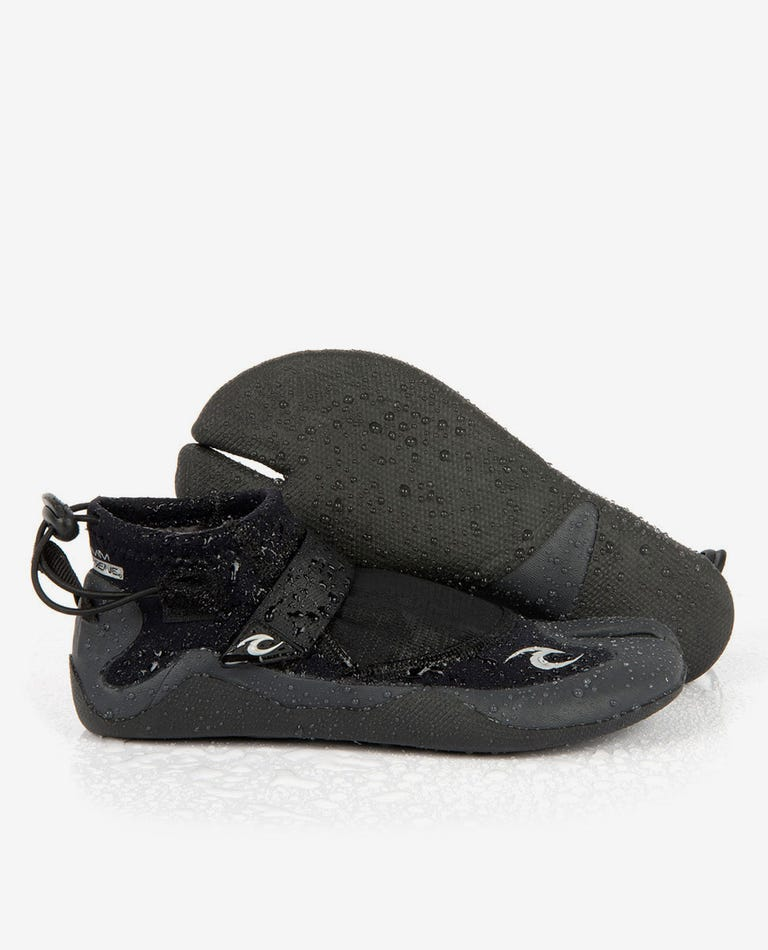 Reefer 1.5 Split Toe Booties in Black/Charcoal