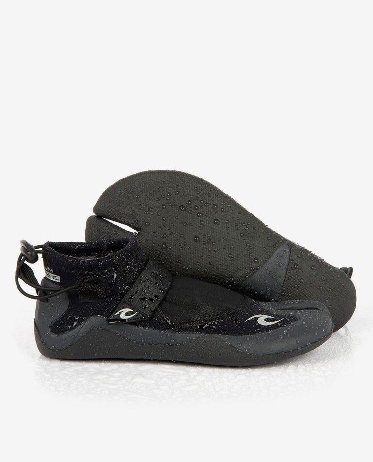 Reefer 1.5 Split Toe Booties in Black/Charcoal