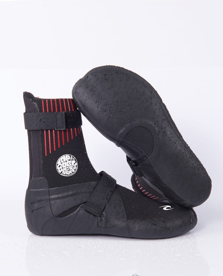 Flashbomb 5MM Round Toe Booties in Black