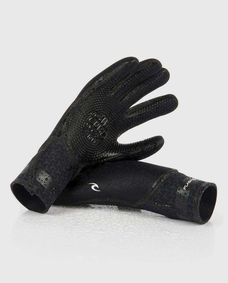 Flashbomb 3/2 5 Finger Gloves in Black