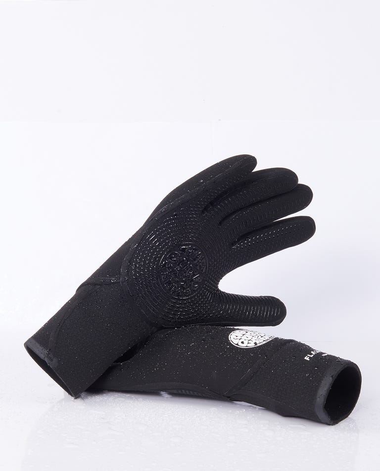 Flashbomb 3/2 5 Finger Gloves in Black