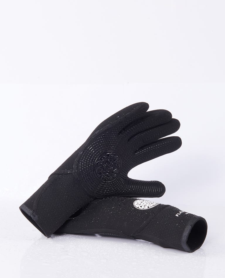 Flashbomb 5/3 5 Finger Gloves in Black