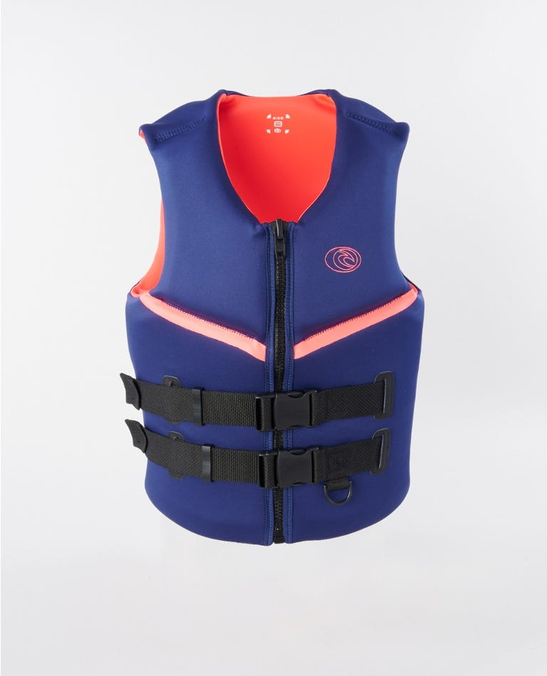 Womens Omega Buoy Vest in Navy
