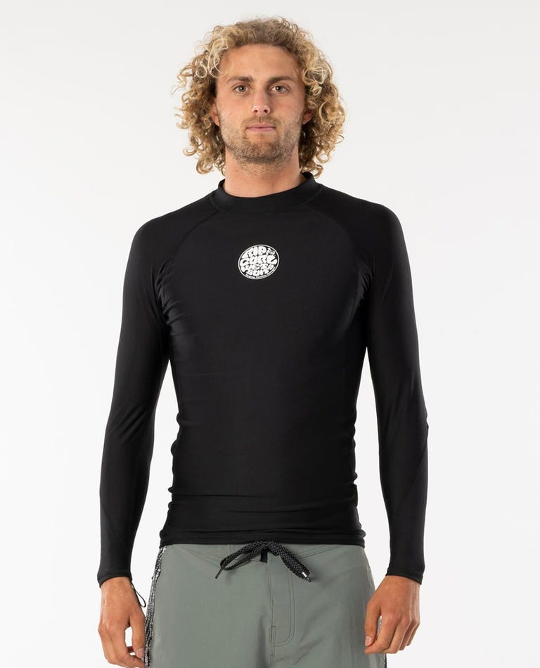 Flashbomb Long Sleeve Polypro Jacket in Black