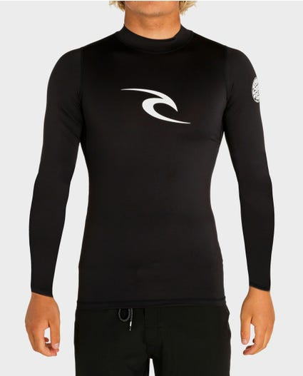 Corpo Long Sleeve Rash Guard in Black