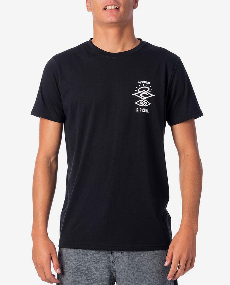 Search Logo Short Sleeve UV Tee in Black