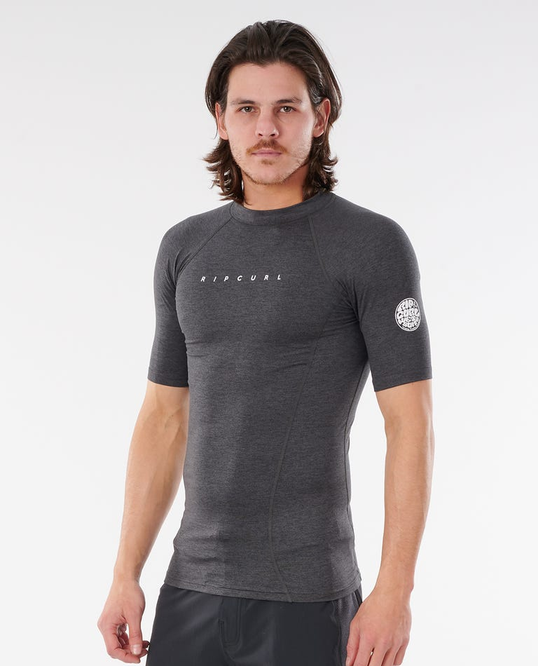 Dawn Patrol Performance Short Sleeve UV Tee in Black Marle