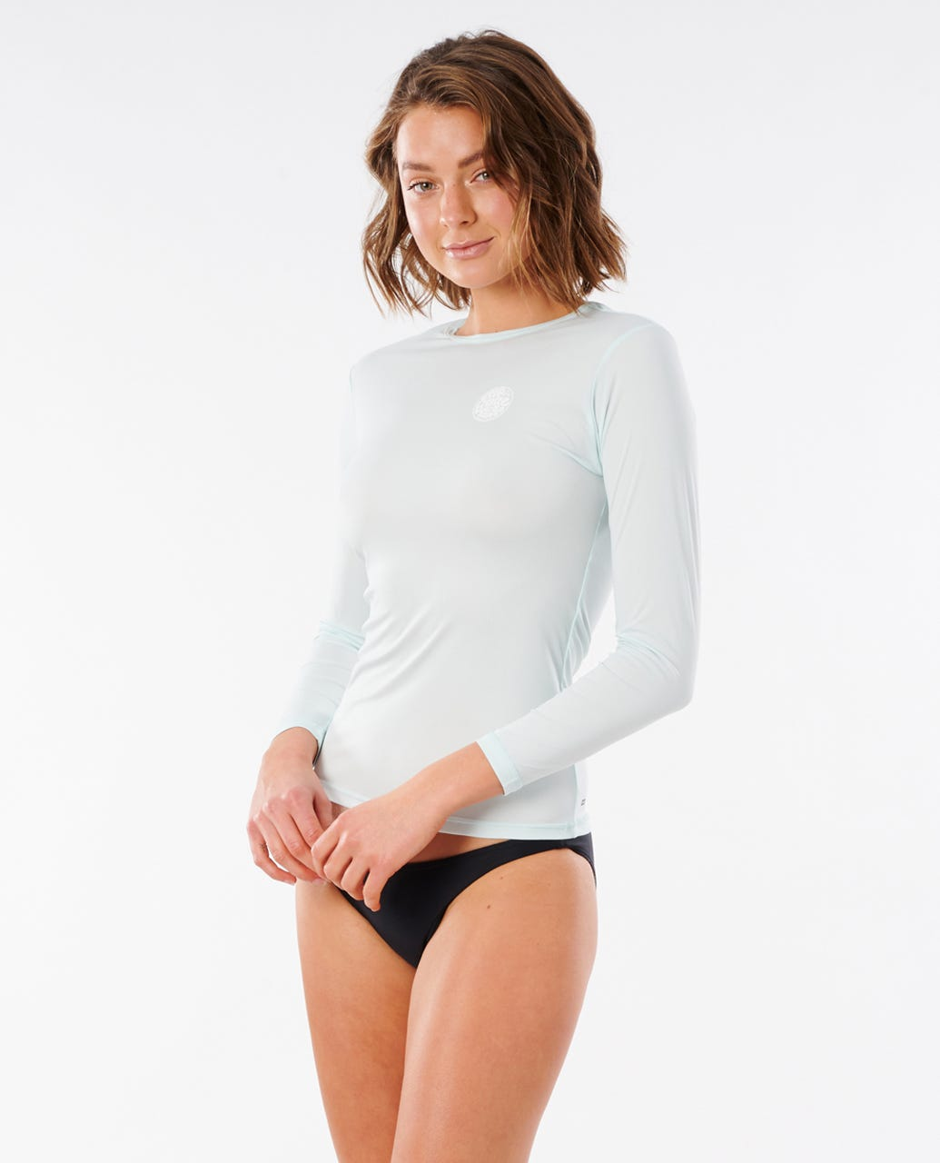 Rip Curl Whitewash Loose FIT Short Sleeve Rash Guard