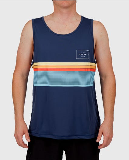 Rapture Surflite Tank Top Rash Guard in Navy