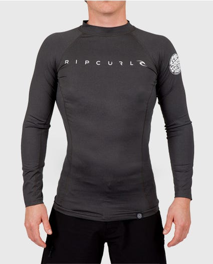 Dawn Patrol Long Sleeve Rash Guard in Aqua