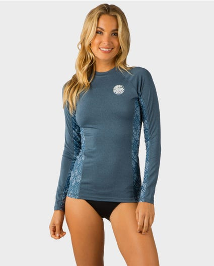 Trestles Long Sleeve Rash Guard in Grey