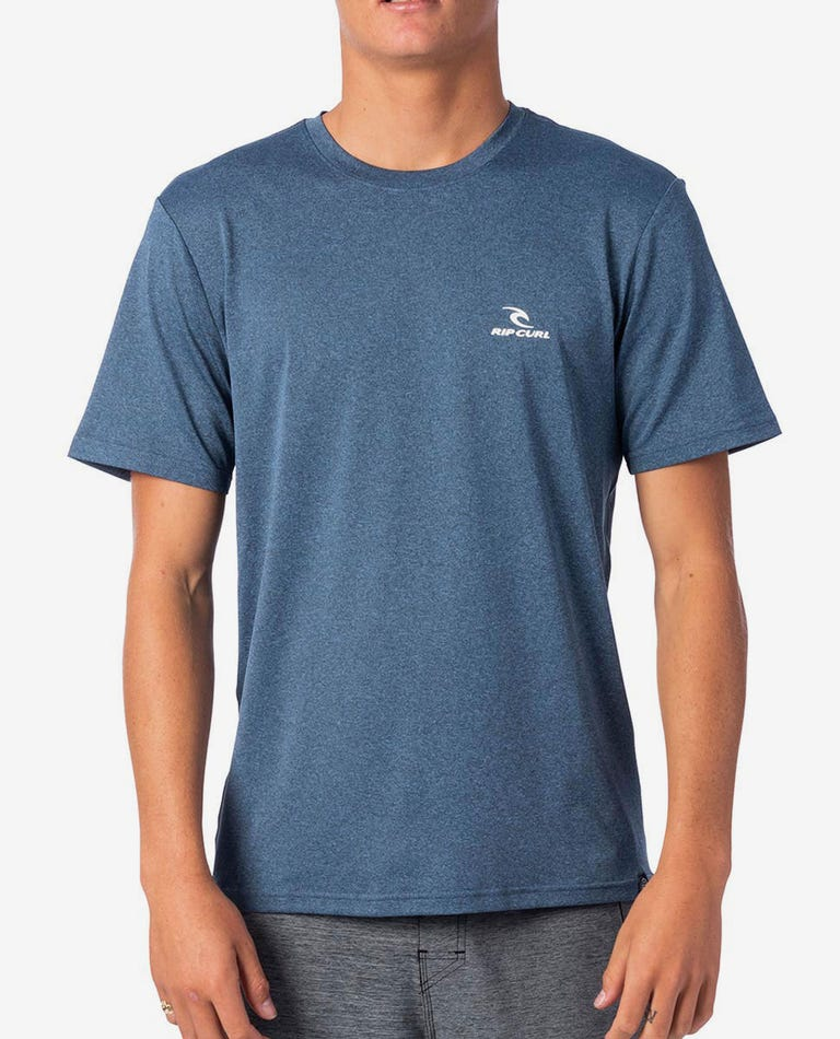 Search Series Short Sleeve Rash Guard in Navy Marle