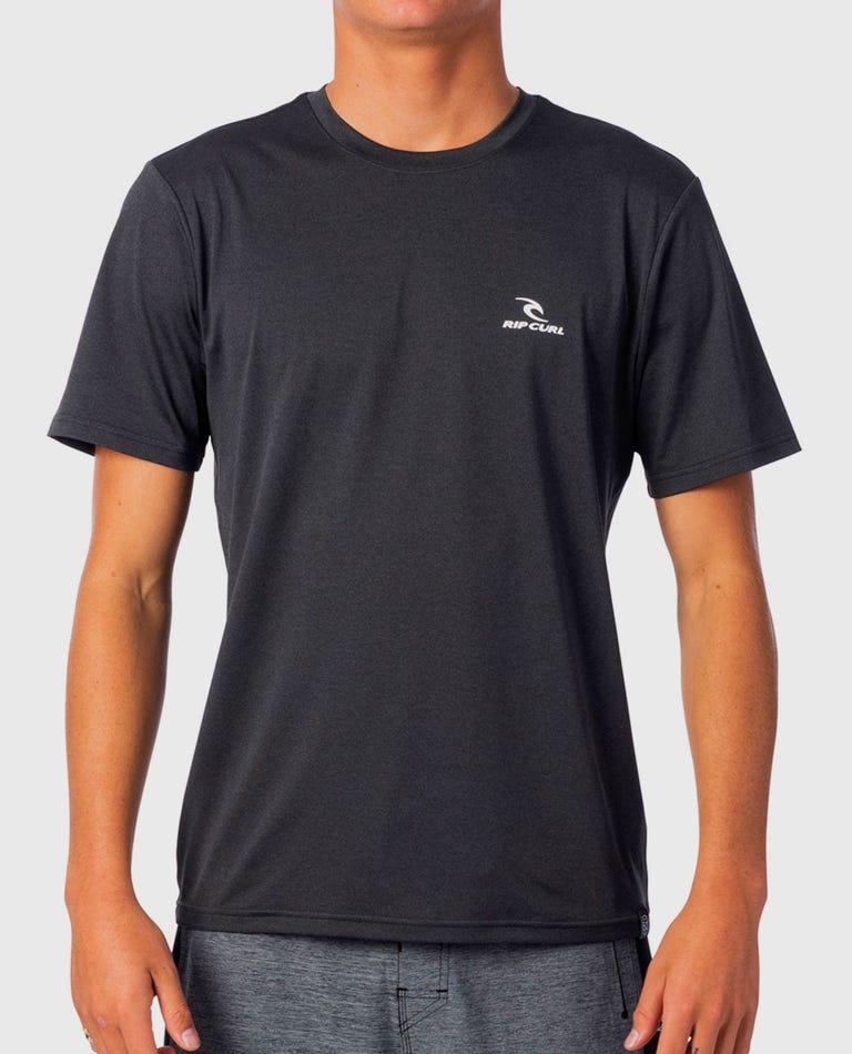 Search Series Short Sleeve Rash Guard in Black/Khaki