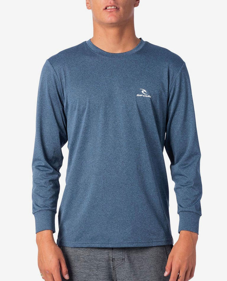 Search Series Loose Fit Rash Guard in Navy Marle