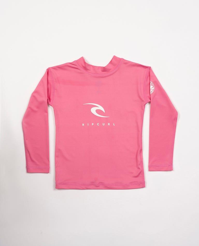 Groms Corpo Long Sleeve UV Tee in Pink
