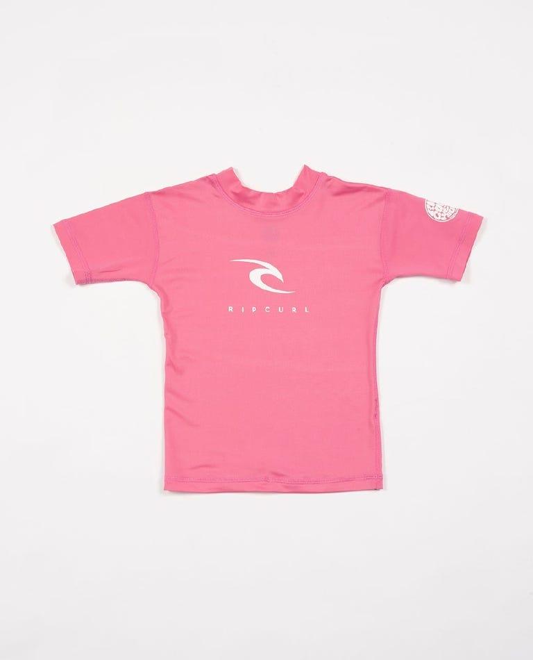 Groms Corpo Short Sleeve UV Tee in Pink