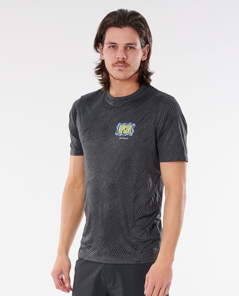 Mind Wave Short Sleeve UV Tee in Black