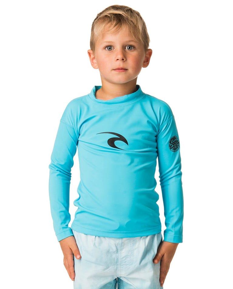 Grom Corpo Long Sleeve Rash Guard in Blue