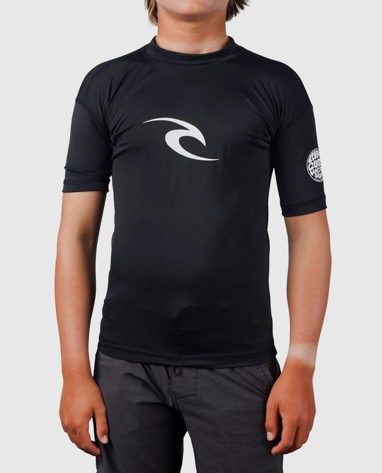 Grom Corpo Short Sleeve Rash Guard in Black