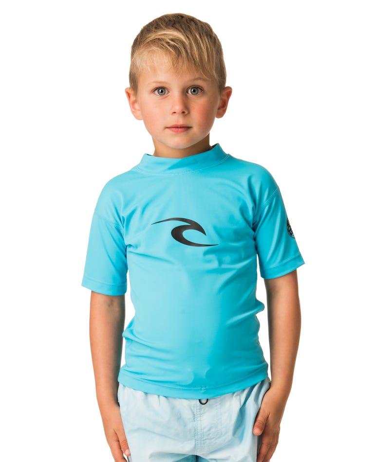 Grom Corpo Short Sleeve Rash Guard in Blue