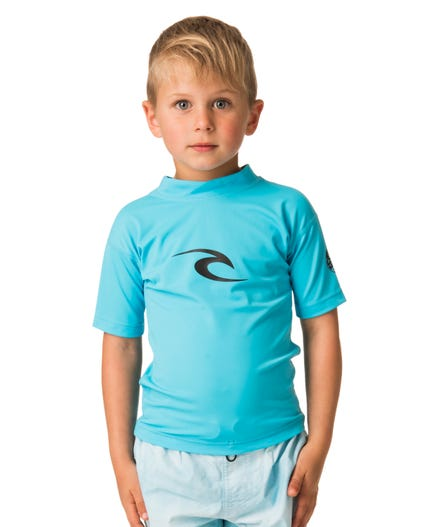 Grom Corpo Short Sleeve Rash Guard in Black