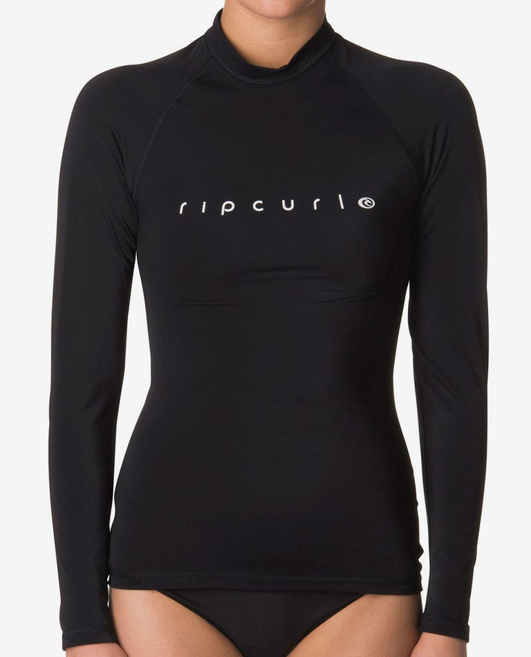 Sunny Rays Relaxed Fit Rash Guard in Black