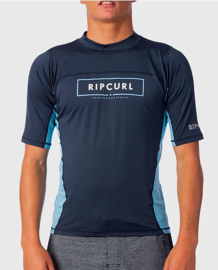 Underline Relaxed Short Sleeve UV Tee Rash Guard in Navy