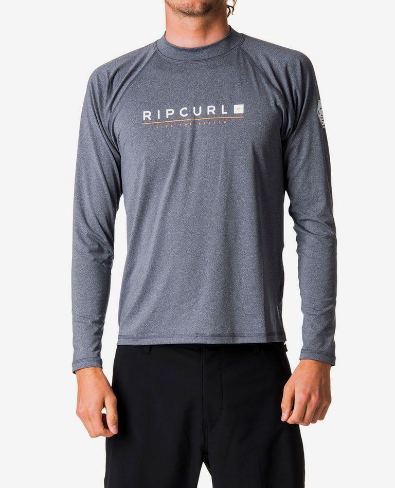 Shockwave Relaxed Long Sleeve UV Tee Rash Guard in Grey Marle