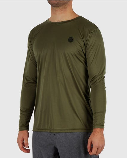 Search Surflite Loose Fit Rash Guard in Green