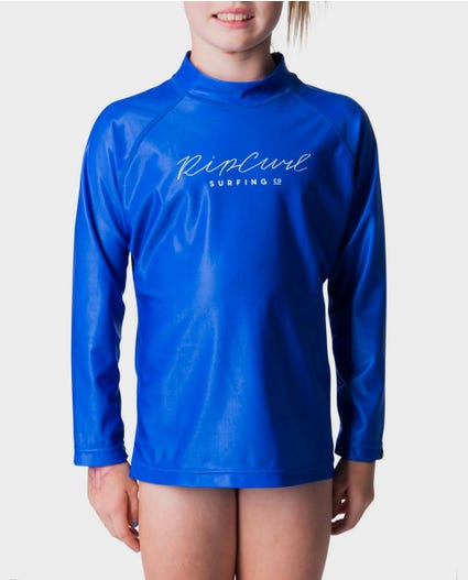 Junior Girls Rosewood Rash Guard in Blue