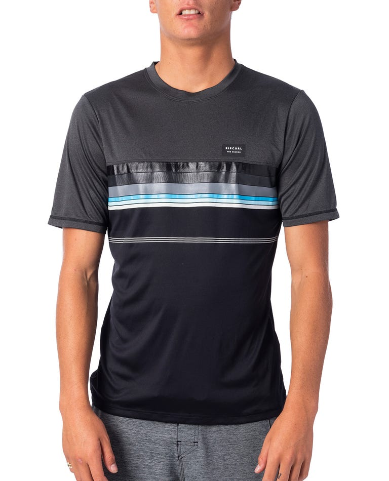 Rapture Surflite UV Tee Rash Vest in Black