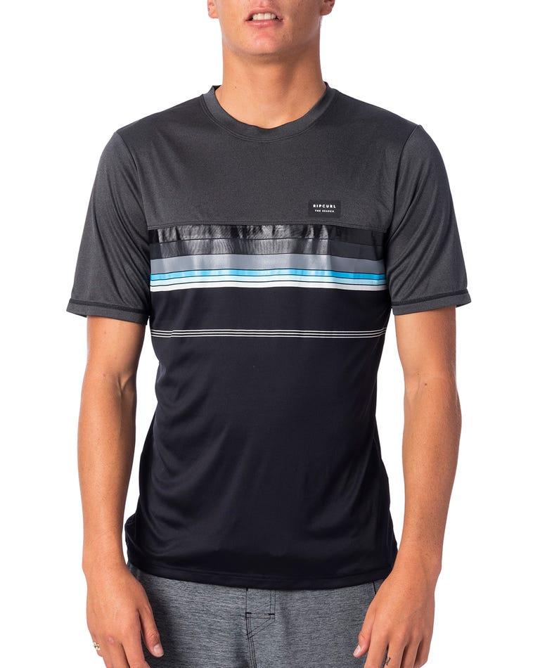 Rapture Surflite UV Tee Rash Vest in Black