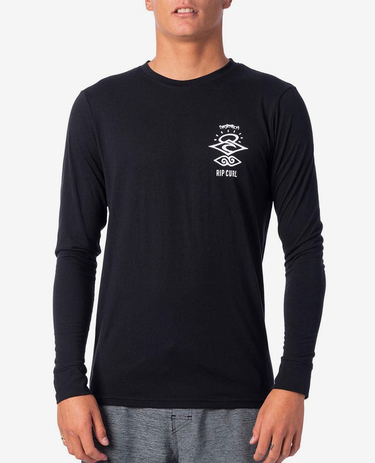 Search Logo Long Sleeve UV Tee in Black