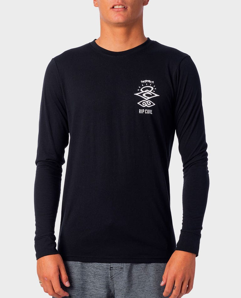 Search Logo Long Sleeve UV Tee in Black
