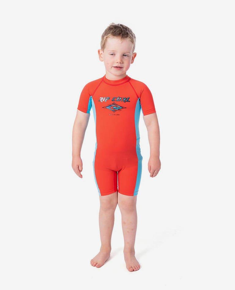 Groms Short Sleeve UV Spring Suit in Red
