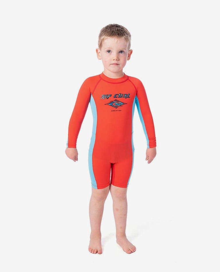 Groms Long Sleeve UV Spring Suit in Red