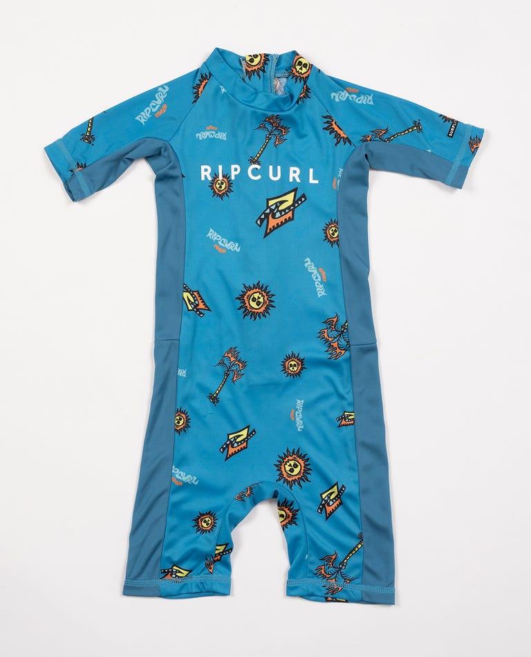 Groms Short Sleeve UV Springsuit in Blue