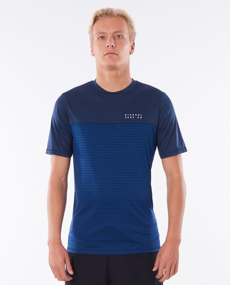 Constructor Short Sleeve Surflite Rash Guard in Navy
