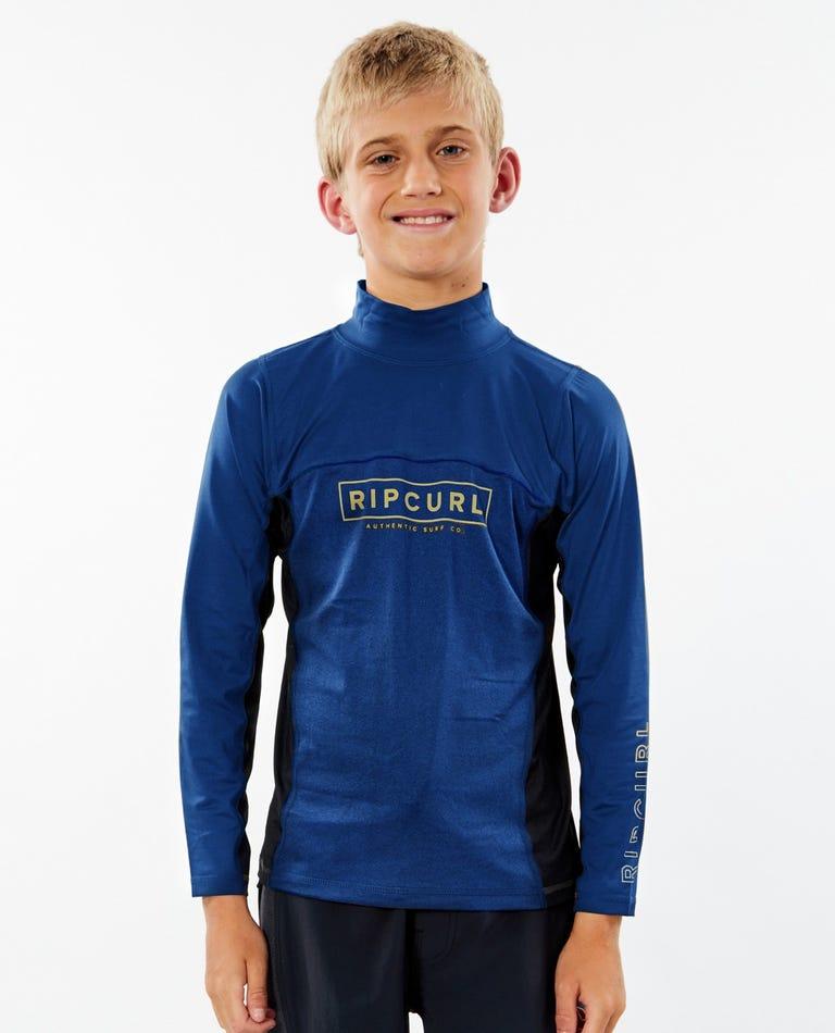 Drive Long Sleeve UV Tee Rash Vest Boys (8-16 years) in Navy