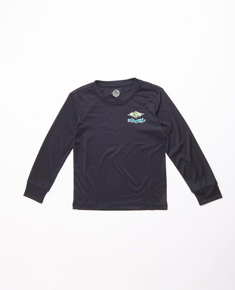 Diamond Fade Long Sleeve UV Tee Rash Vest Boys (0 - 6 years) in Black